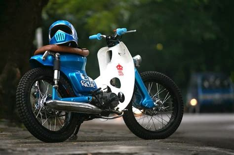 Gambar Motor Gazgas Monkey 110 by Modifikasi Icub Honda Cub 70 Cafe Racer