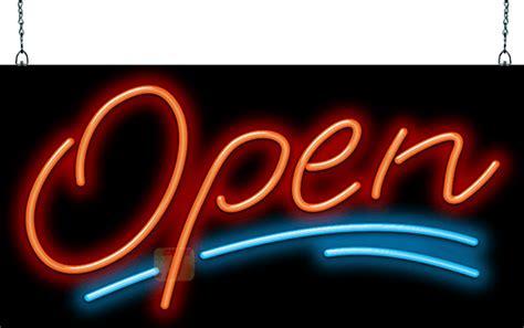 elegant open neon sign large ogz   jantec neon