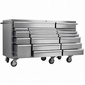 Viper Tool Storage 72 U0026quot  18 Drawer Pro Series 304 Stainless