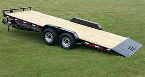 7 Ton Equipment Full Bed Tilt Trailer
