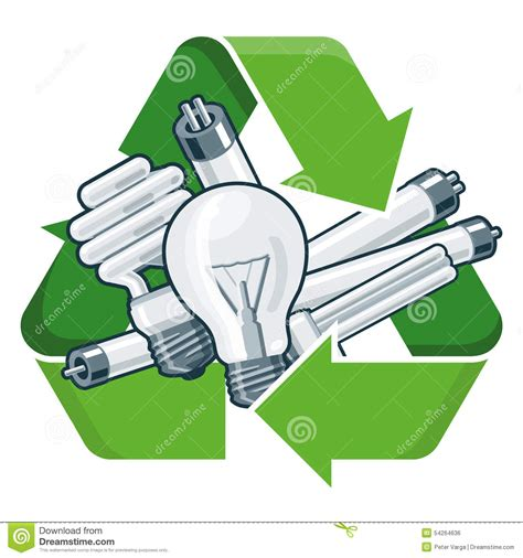 recycle light bulbs stock vector illustration of icon