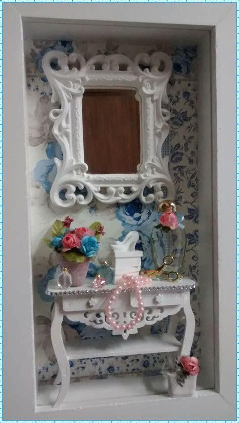 encantador quadro cen 225 feminino moldura caixa em mdf pintura branca fundo em decoupage