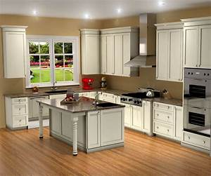 Traditional white kitchen design / 3D rendering Nick