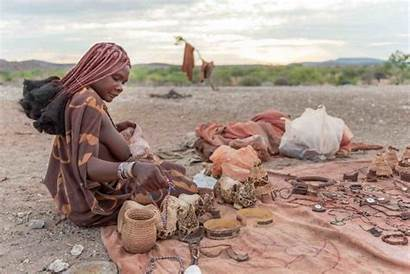 Himba Tribe Namibia Woman Culture Tourists