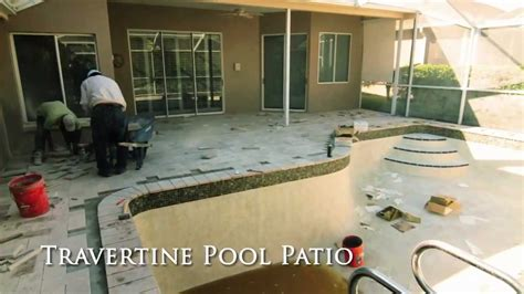 Tile Installer Ta Fl by How To Install Travertine Paved Pool Patio And Travertine