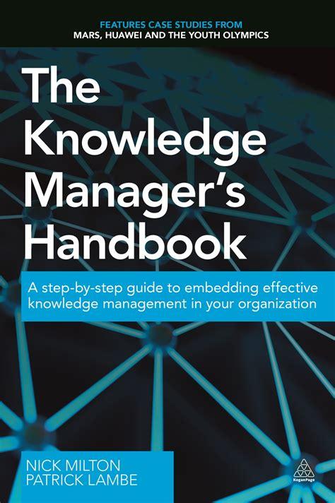 knowledge managers handbook