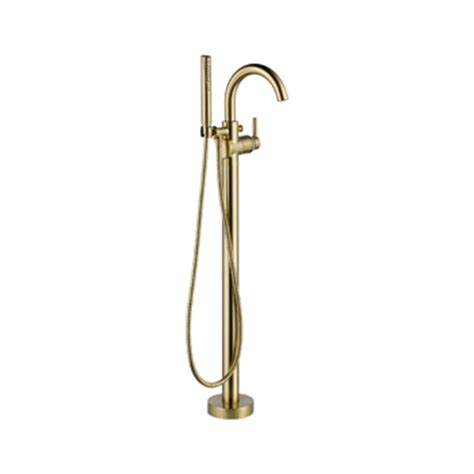 delta floor mount tub filler in clawfoot tub faucet bathroom clawfoot tub faucets by