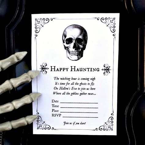Free Halloween Party Invitation Printables  Make Life Lovely. Customizable Calendar Template 2017. First Communion Banner Templates. Free Ticket Template Word. Social Media Ppt Template. Save The Date Graduation Magnets. Make Sending A Resume Via Email Sample. Project Timeline Template Word. Missing Person Poster Template