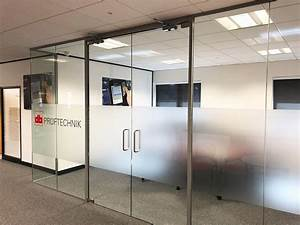 Glass, Partitions, At, Pruftechnik, Ltd, Lichfield, Staffordshire, Glass, Office, With, Soundproof, Glazing