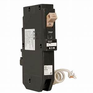 Eaton Type Ch 15 Amp 3  4 In  Single Pole Ground Fault