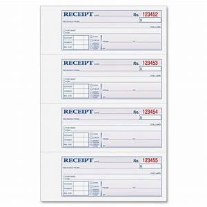 Adams money rent receipt book 3 part 100 bk ld products for Invoice books online