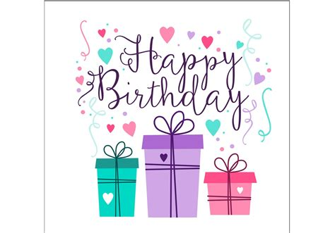 birthday card design   vector art stock