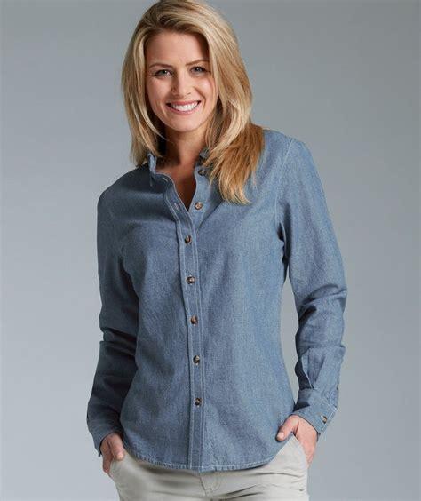 Blue Chambray Shirt Women Home Womens Button Down