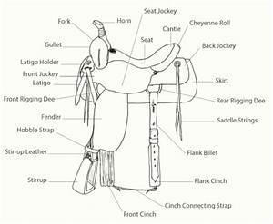 western saddle parts With saddlediagram