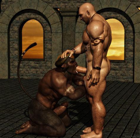 rule 34 abs anthro balls biceps black howler bovine gay hair horn human male mammal minotaur