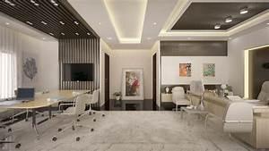 Modern, Office, Interior, Scene, 3d, Model