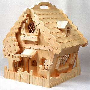 Woodworking plan for building a fun, whymsical doll house