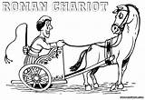 Carriage Coloring Pages Chariot Roman Colorings sketch template