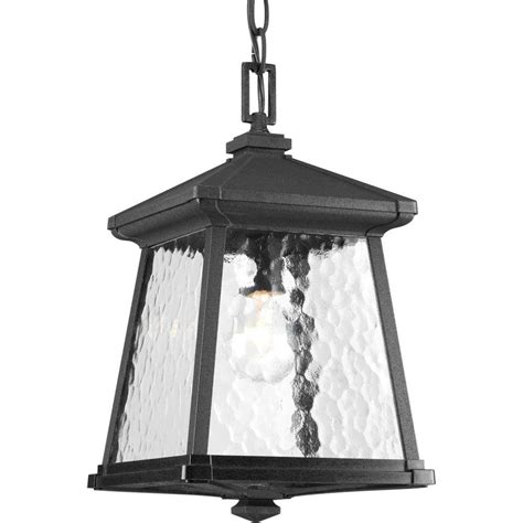 home depot outdoor hanging lights progress lighting mac collection 1 light black outdoor