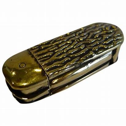Case Antique Pocket Knife Unusual Penknife Brass