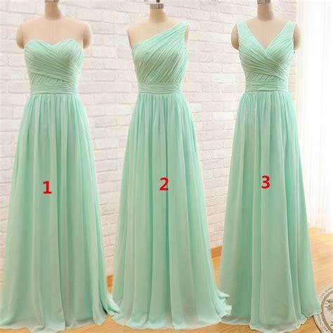 long cheap mint green bridesmaid dresses