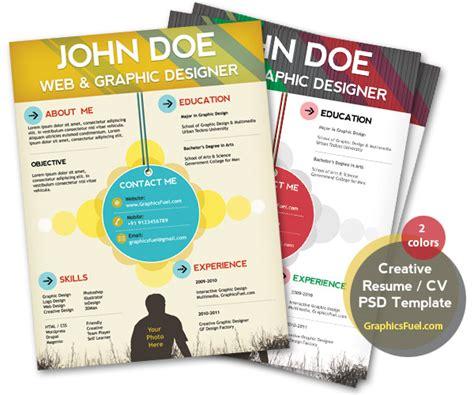 Creative Graphic Designer Resume Psd by Creative Resume Cv Psd Template Cmyk Print Ready