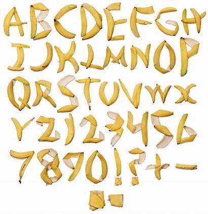 Banana Font Alphabet Letters Fonts Beware Handmadefont