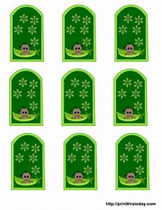 free pea pod baby shower favor tags templates With free printable baby shower favor tags template