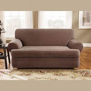 Dark brown reclining t cushion wingback loveseat slipcover for King furniture slipcovers