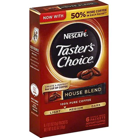 How to make a frothy iced coffee with instant coffee granule. Tasters Choice Nescafe Coffee, Instant, House Blend, Single Serve Packets | Shop | The MarketPlace