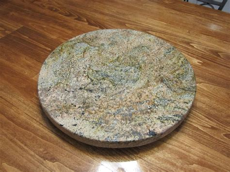 crafted granite lazy susan by impact remodeling
