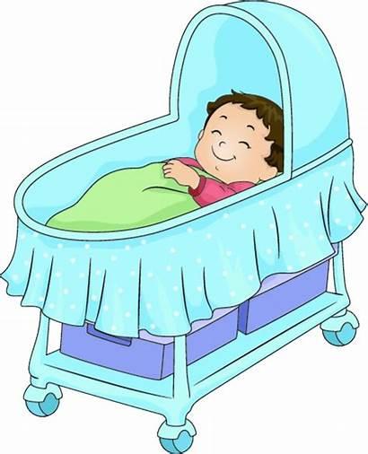 Crib Clipart Sleeping Cartoon Bed Bassinet Kartun