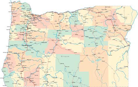oregon road map  road map oregon highway map