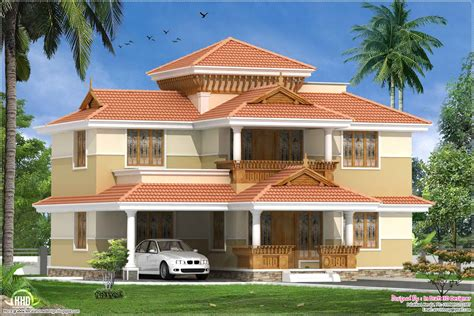 kerala traditional  bed room villa  sqfeet house design plans