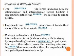 Ionic Bonding Model Melting Point