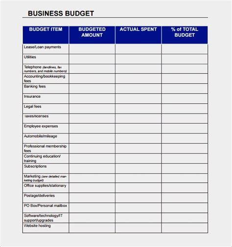 Simple Budget Template Free Simple Small Business Budget Template Emetonlineblog