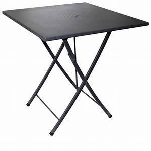 Table Exterieur Pliante : zeus table pliante en acier 70x70 cm utilisation en ext rieur sediarreda ~ Teatrodelosmanantiales.com Idées de Décoration