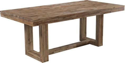 Modern Rectangular Dining Table With Rustic Trestle Base