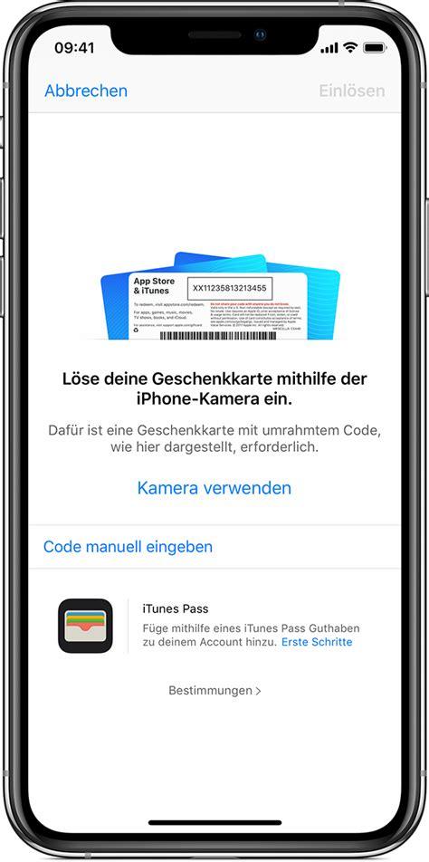 app store und itunes geschenkkarten sowie content codes einloesen apple support
