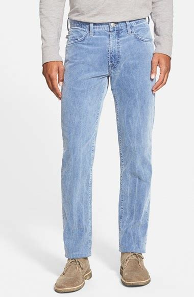 Lyst Agave 39 Bicolor 39 Straight Leg Corduroy Pants In Blue
