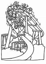 Amusement Bumping Mcoloring Ausmalbilder Natal Coasters Achterbahn sketch template