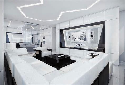 living room black and white modern black and white living room with black rug Modern