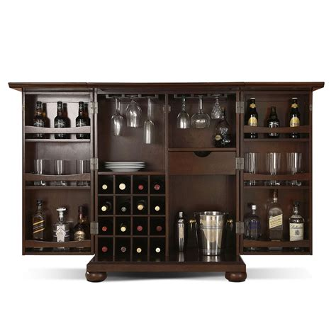 vintage wine cabinet renzo bar cabinet mahogany american signature furniture 3268