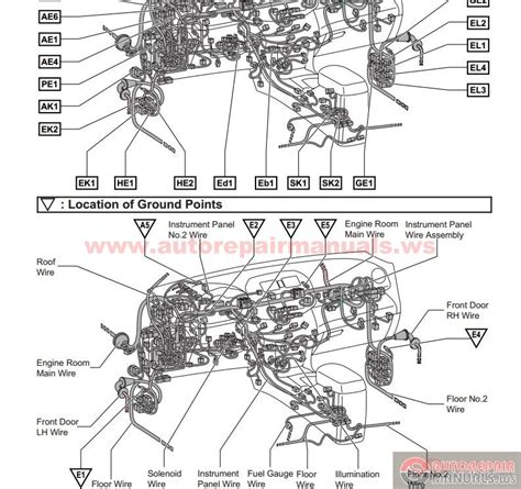 wiring diagrams toyota rav4 2007 toyota rav4 2007 electrical wiring diagram auto repair