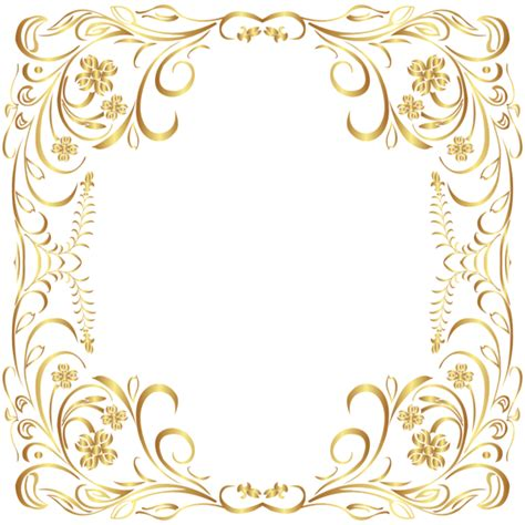 deco gold border frame png clip art gallery yopriceville high