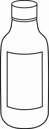 Bottle Clipart Clip Medicine Water Bottles Cartoon Cliparts Pill Chemical Line Plastic Outline Empty Panda Chemistry Pages Colouring Clipartpanda Library sketch template