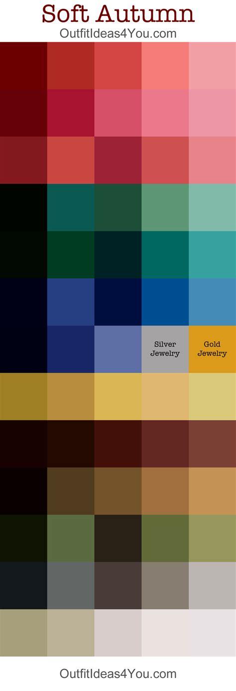 soft autumn color palette soft autumn seasonal color palette autumn color palette