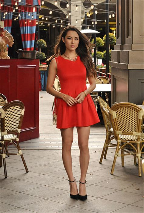 Dress hapa time blogger red dress sandals date outfit - Wheretoget