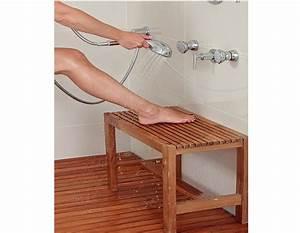 Tabouret Douche Bois : banc de douche en bois de teck massif largeur de 23 5 ~ Edinachiropracticcenter.com Idées de Décoration