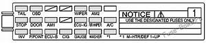 2004 Pontiac Vibe Fuse Diagram